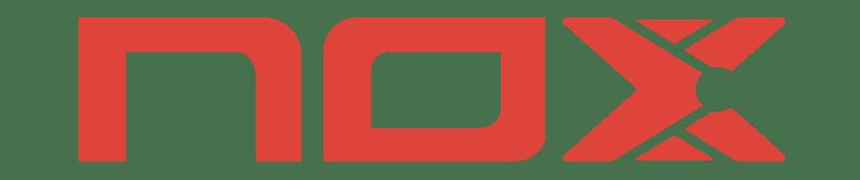 NOX logga, ett padelmärke som bland annat tillverkar padelrackets, padelbollar, padelskor m.m.